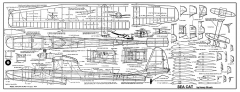 Sea Cat - 68 in span gas seaplane by Henry Struck from  1950s MAN model airplane plan