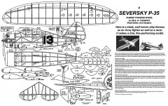 Serversky P-35 from 1939 Popular Aviation Magazine model airplane plan