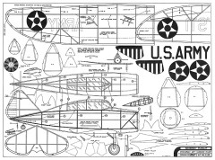 Seversky Pursuit - Late 1930's all-metal low-wing fighter, 25 in wingspan by Comet model airplane plan