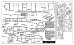 Sinbad Jr. - 30 in span free flight glider kitted by Berkeley 1949 model airplane plan
