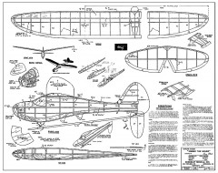 Sinbad the Sailor - 50in FF Duration Glider, 1941 towline, Henry Struck, Berkeley kit model airplane plan