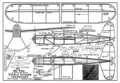 Single Engine Transport - 16 in span, 1939 kit no. F60 by Guillow model airplane plan