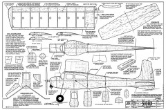 Sioux - 1949 half-A gas sport free flight by Joe Wagner, kitted by Veco model airplane plan