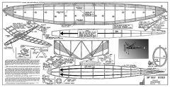 Sky Burd - 1930s 30 in span sport rubber by Kramer Bros. (Burd Models) model airplane plan