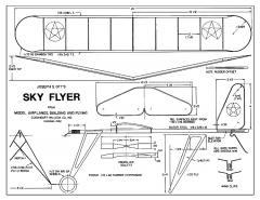 Sky Flyer - simple R.O.G., a 1932 Joe Ott kit model airplane plan