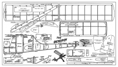 Skygypsy - simple gas free flight, 27.5 in span from Aeromodeller model airplane plan