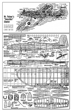 Smoothie - Bob Palmer's famous coltrol line stunt plane - from Air Trails model airplane plan