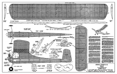Sniffer - 29 in. span half A gas free flight kitted by Midwest in early 1950s model airplane plan