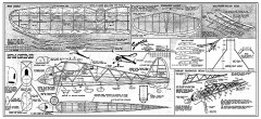 Snootie - cabin gas free flight by Paul Plecan from Oct. Mchnx. Illus model airplane plan