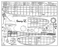 Snuffy VI - 1940 old time gas free flight by Bob Taft, published in Air Trails magazine model airplane plan