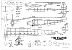 Soarer by Paul Plecan - gull-wing sailplane from 1939 Popular Aviation model airplane plan
