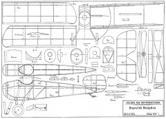 Sopwith Dolphin - from Oct. 1932 Model Airplane News model airplane plan
