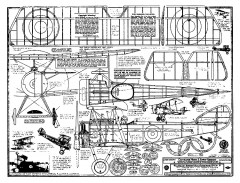 Sopwith Pup - 1916 - Cleveland plans model airplane plan