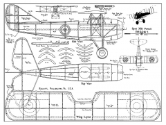 Spad XIII - by Megow model airplane plan