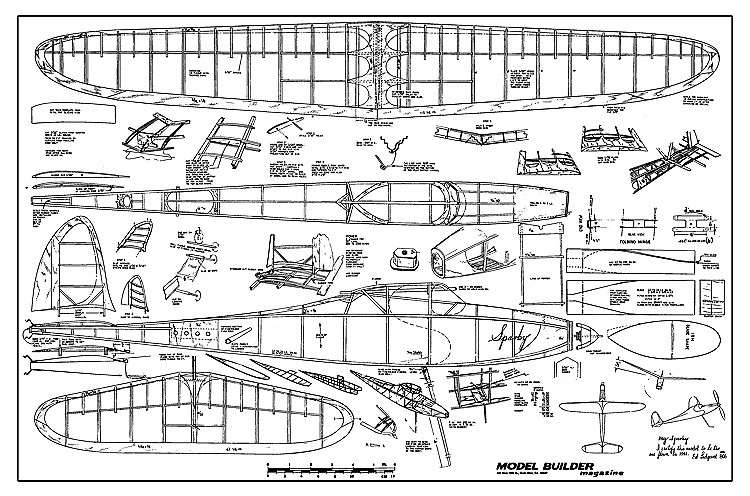Sparky - 1941 version of Ed Lidgard's famous flyer certified by Ed himself model airplane plan