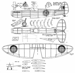 Spitfire (Earl Stahl, assembled plan) model airplane plan