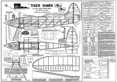 Stanzel Tiger Shark - 1939, the first control line model plane kit, would make a good RC model airplane plan