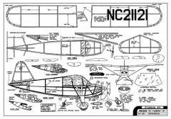 Stinson 105 -  16in. span by Comet model airplane plan