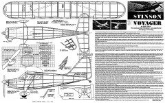 Stinson Voyager bt Earl Stahl model airplane plan