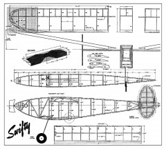 Swifty - 1940's style endurance rubber model model airplane plan