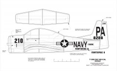 T-28B model airplane plan