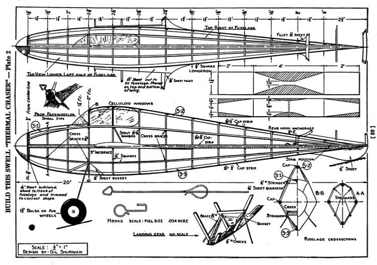 Thermal Chaser p2 model airplane plan