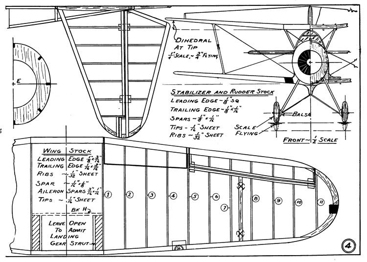 Vought SBU-1 p4 model airplane plan
