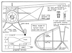 WACO 1 model airplane plan