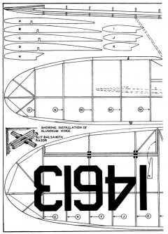 Waco Cabin p3 model airplane plan