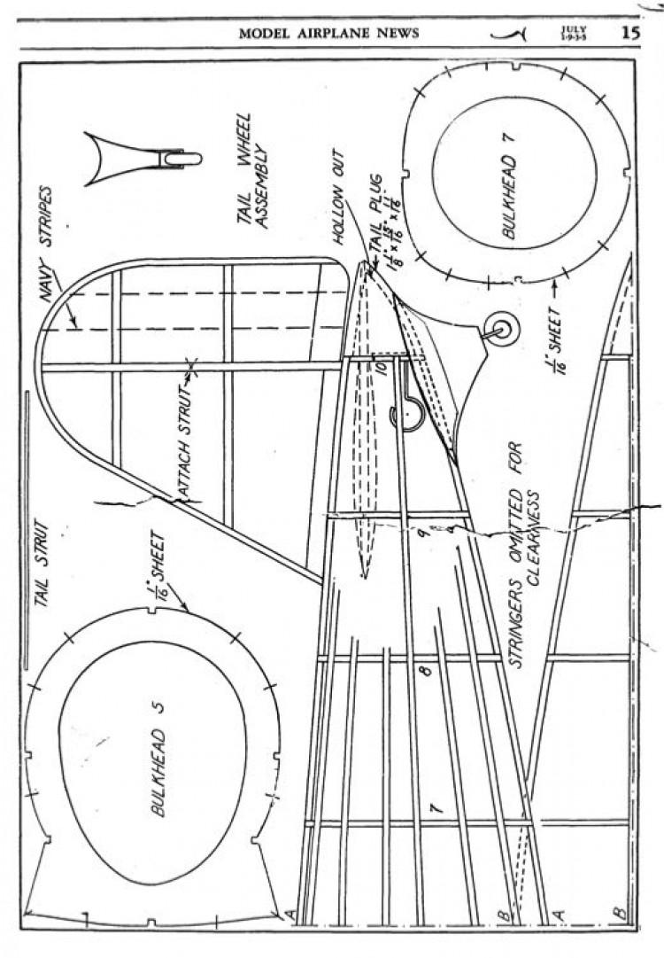 XF13C-1 2 model airplane plan