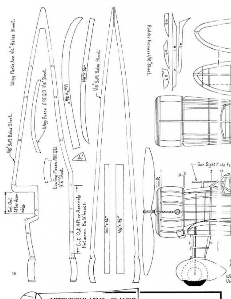 a5m2aclaude model airplane plan