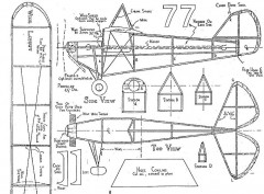 Aeronca C3 Razorback model airplane plan