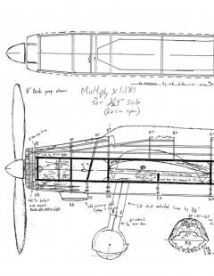 aichib7a2 model airplane plan
