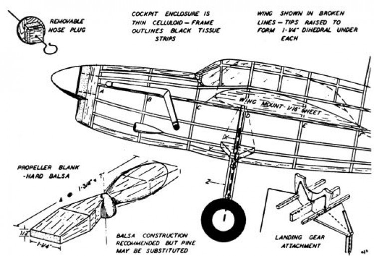 barp1 model airplane plan