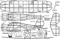 beechb17 model airplane plan