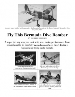 bermuda model airplane plan