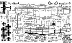 bf109e-dn model airplane plan