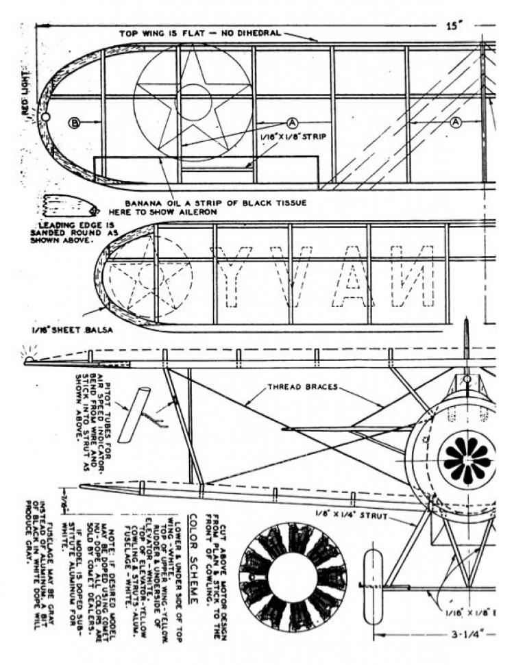 boeingf4b4 model airplane plan