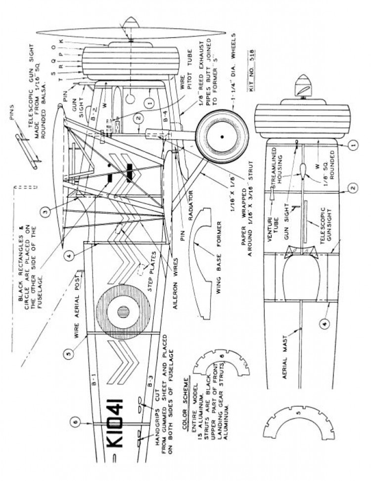 bristolbulldogcomet model airplane plan