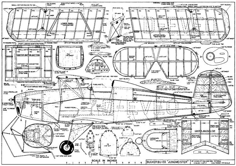 buker-jungmeister model airplane plan