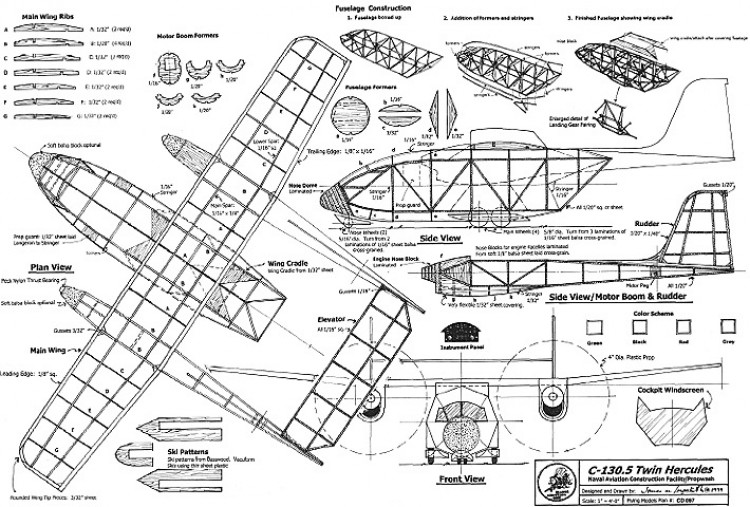 C-130.5 Twin Hercules model airplane plan