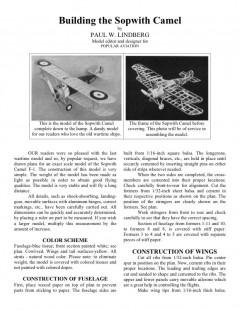 camel model airplane plan
