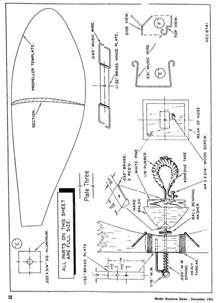 climber p3 model airplane plan