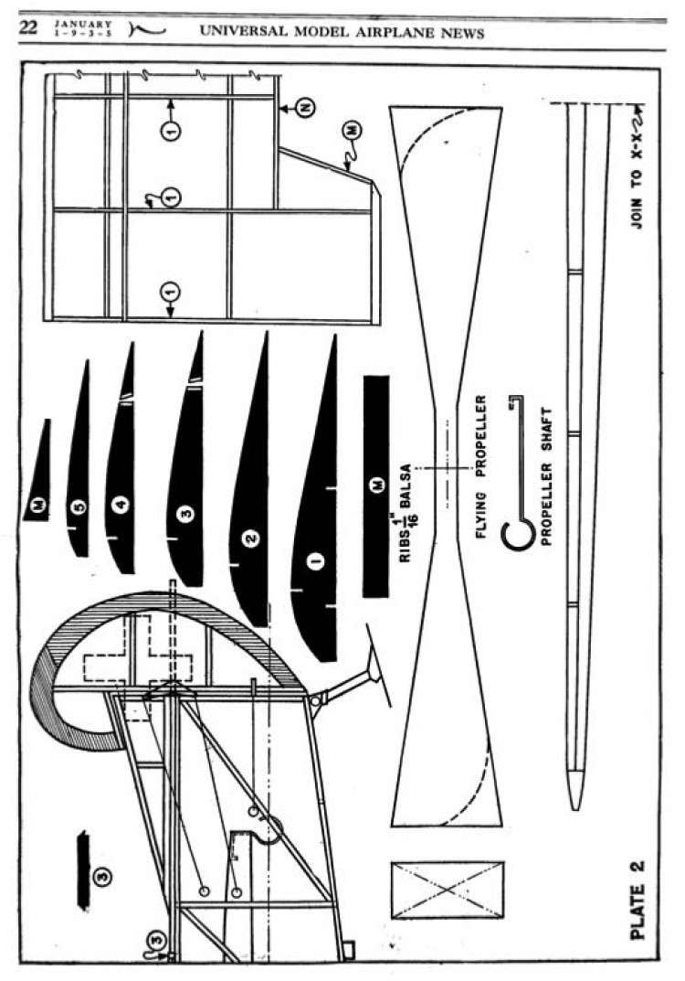 d8 2 model airplane plan