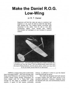 danielrog model airplane plan
