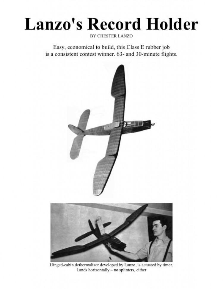 dethermalizer model airplane plan