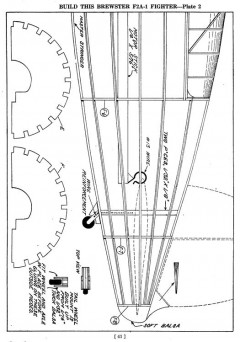 f2a p2 model airplane plan