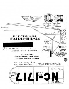 fairchildf24 model airplane plan