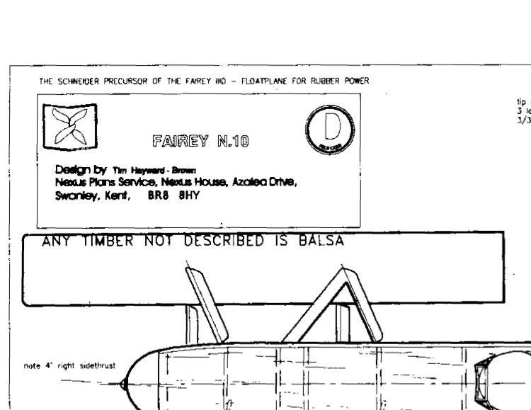 faireyn10 model airplane plan