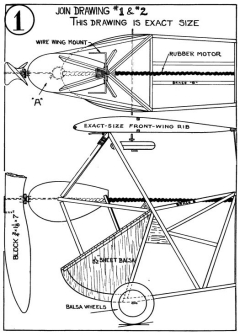 flea p1 model airplane plan